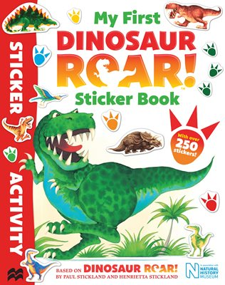 Book cover for My First Dinosaur Roar! Sticker Book